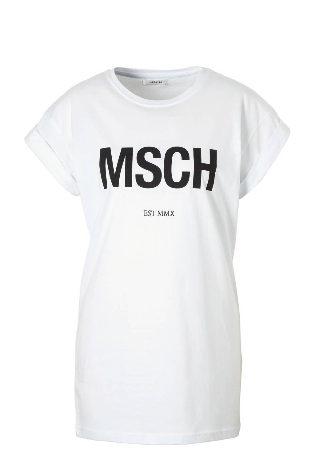 MSCH Copenhagen Alva MSCH EST T-shirt, Wit/zwart