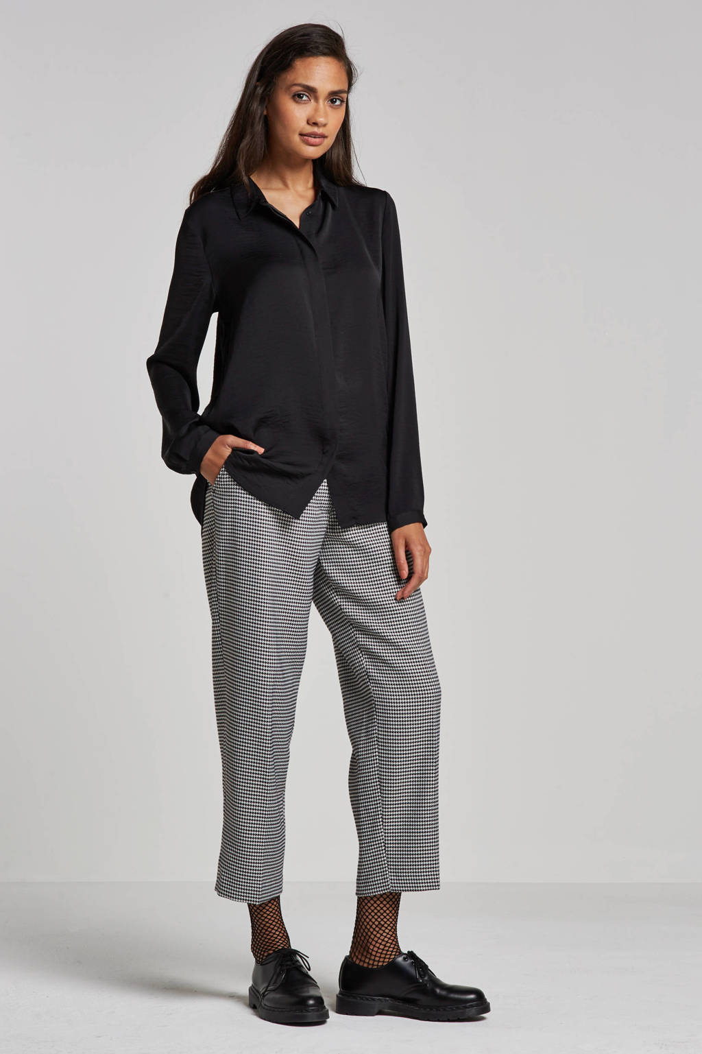 MSCH Copenhagen Blair polysilk blouse, Zwart