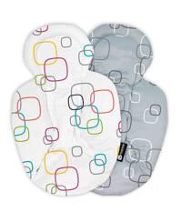 4moms Snug reversible stoelverkleiner newborn multicolor/grijs, Multicolor/grijs