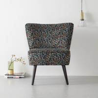 whkmp's own fauteuil Coco velours, Luipaardprint (legergroen)