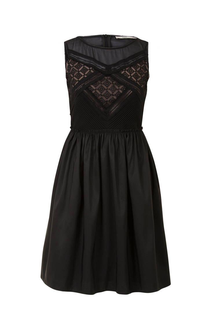 kant met jurk Steps Steps zwart jurk w8pgSqn