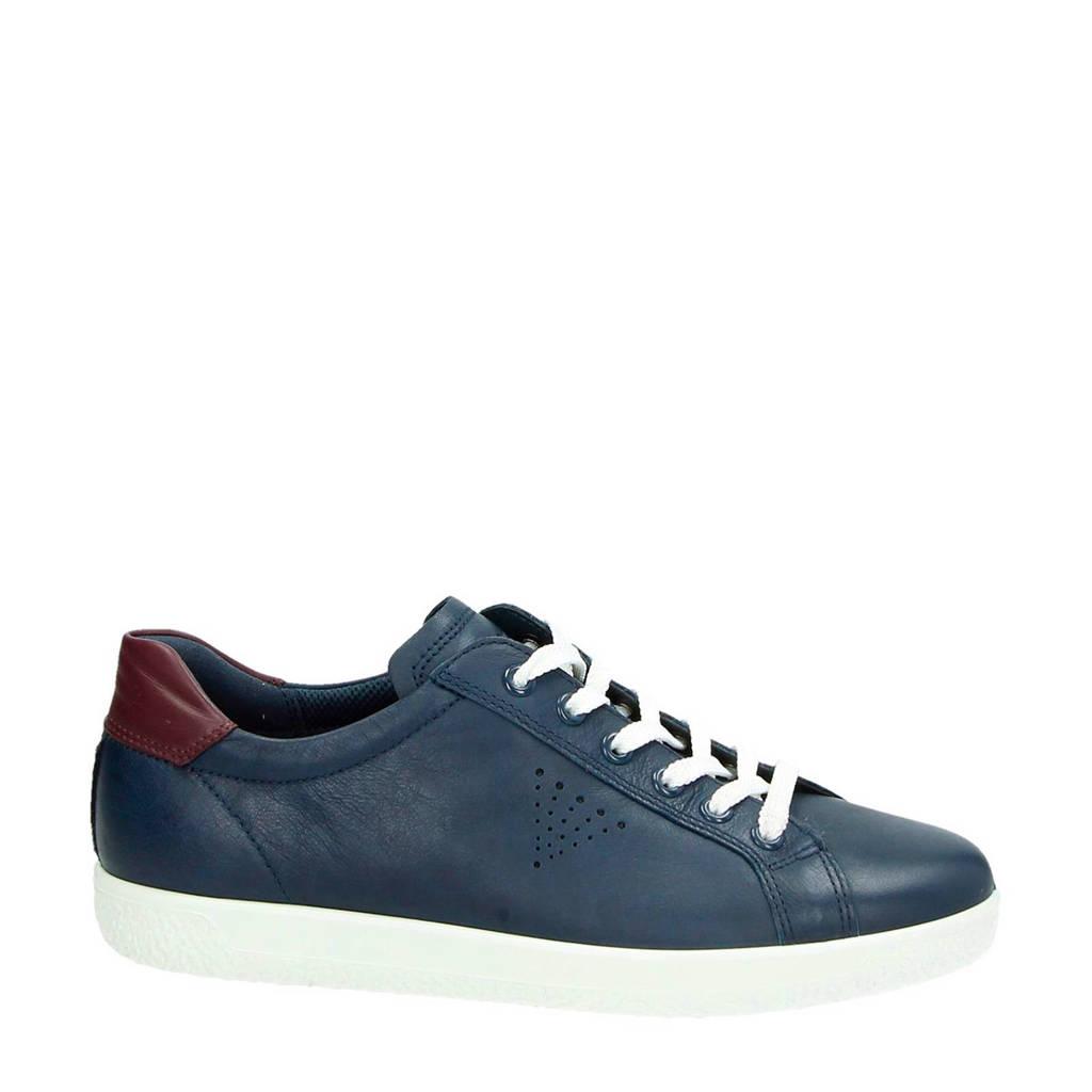 Ecco leren sneakers Soft 1 blauw, Blauw