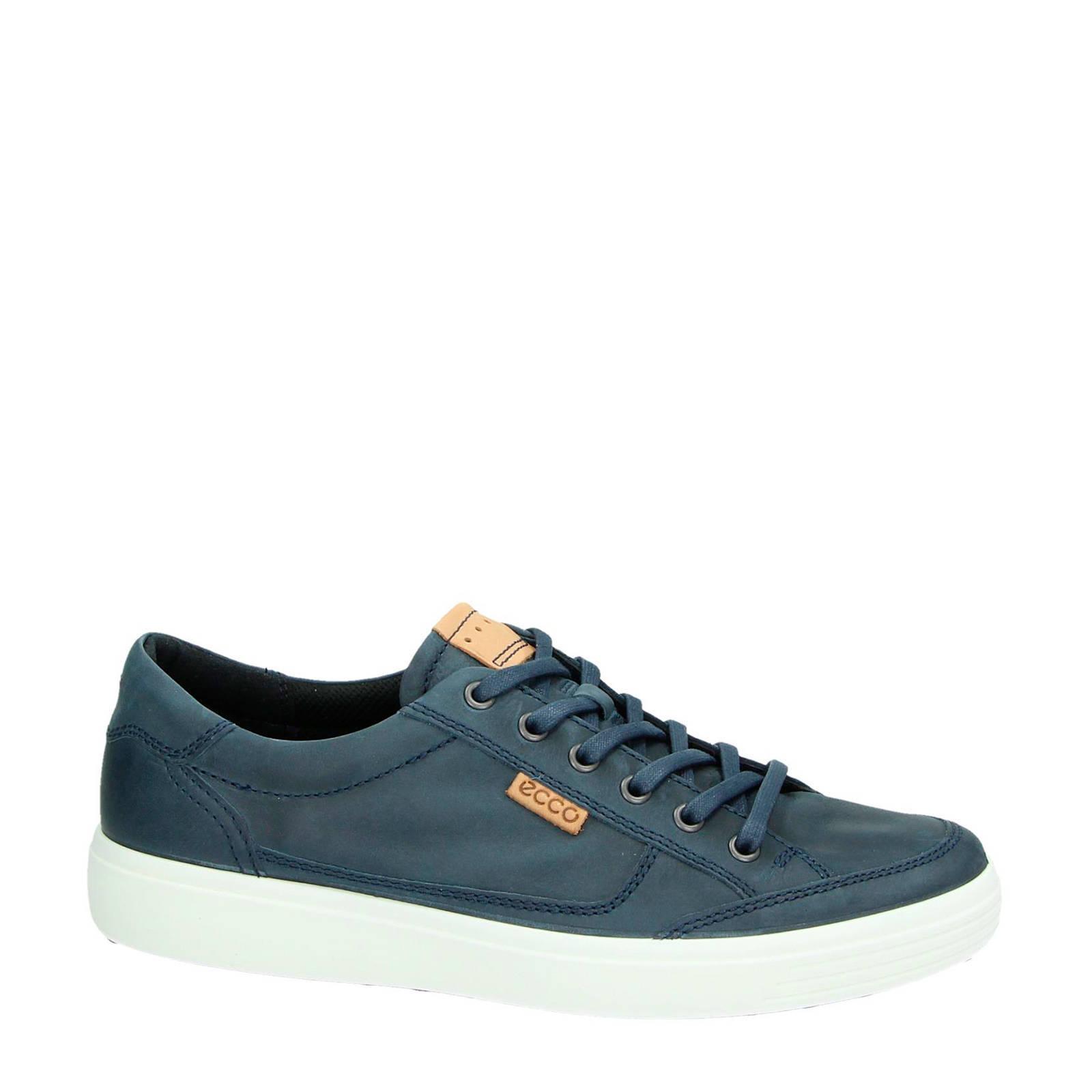 Ecco nubuck sneakers Soft 7 blauw | wehkamp