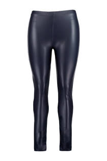 MS Mode legging van imitatieleer marine (dames)