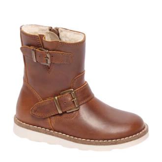 vanHaren Bobbi-Shoes leren enkelboots bruin