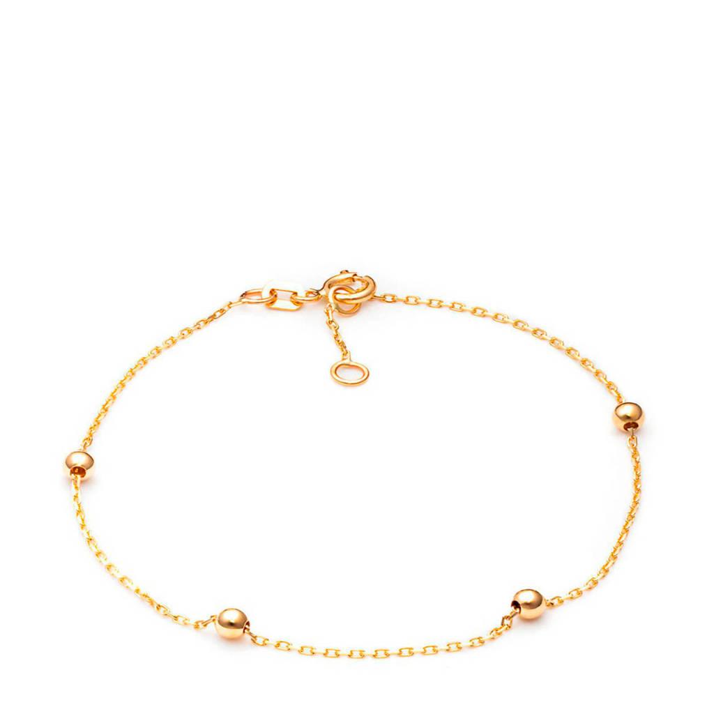 Isabel Bernard 14 karaat gouden armband - IB200435, Goudkleurig