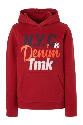 sweater met tekstopdruk rood