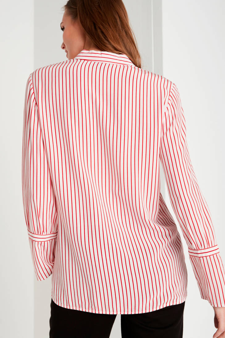 comma gestreepte blouse rood casual identity rZCfBrwq