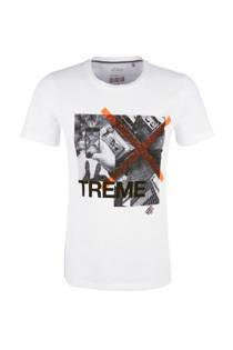 s.Oliver RED LABEL slim fit T-shirt wit