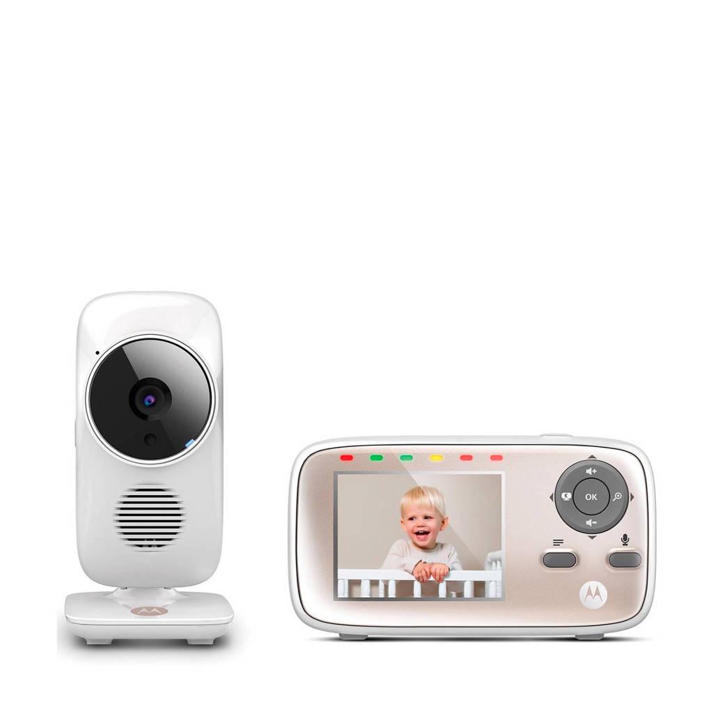 Motorola MBP-667 babyfoon met camera, Wit/rose