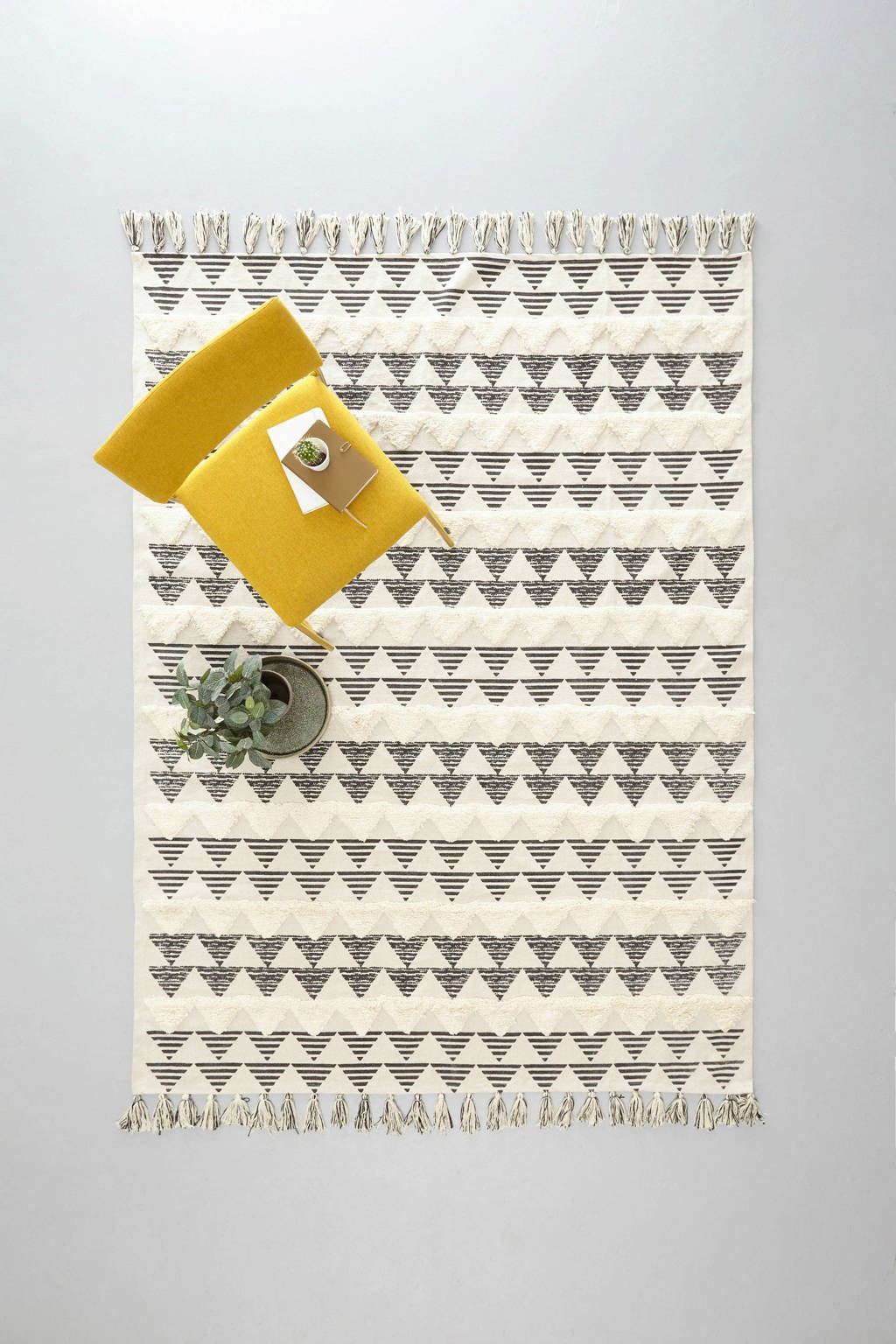 whkmp's own vloerkleed  (230x160 cm), Zwart