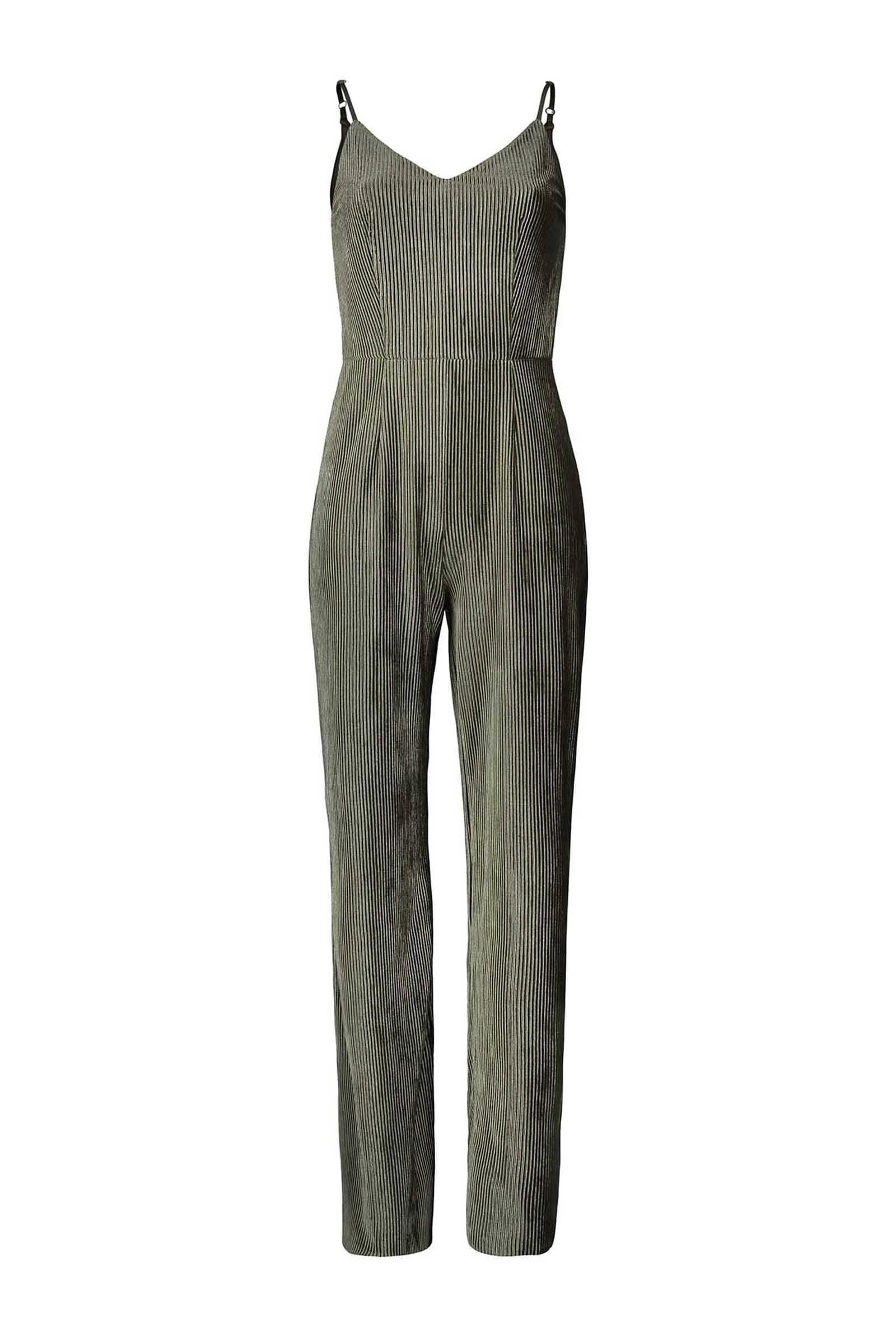 Sissy-Boy Fluwelen plissé jumpsuit olijfgroen (dames)