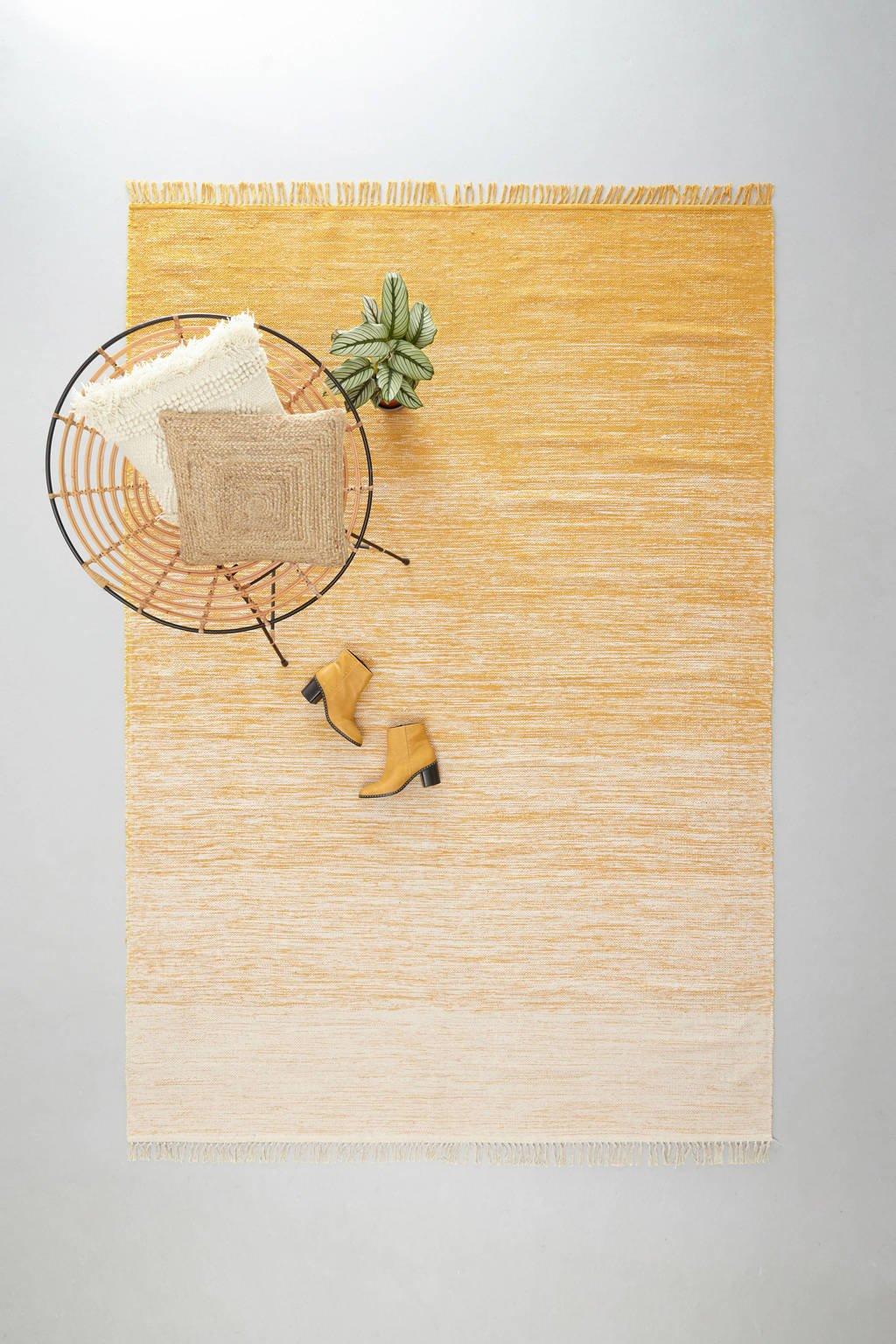 whkmp's own vloerkleed  (290x200 cm), Geel/wit