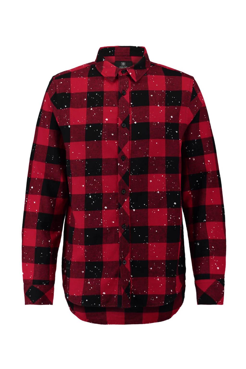 Rood Zwart Overhemd.Coolcat Geruit Overhemd Rood Zwart Wehkamp