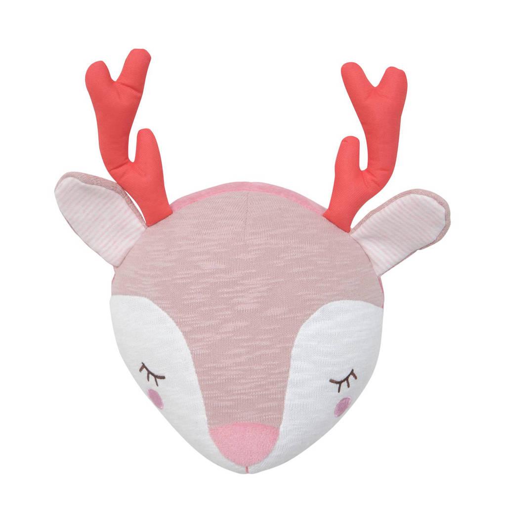 Tiamo Dreamy deer wanddecoratie, Roze/wit