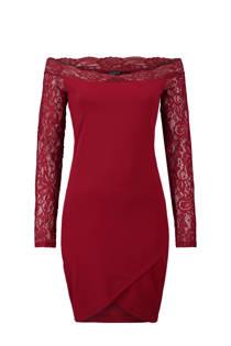 CoolCat off shoulder jurk rood