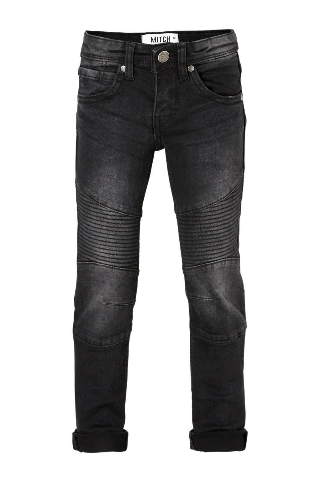 Mitch slim fit jeans Biker zwart, Zwart