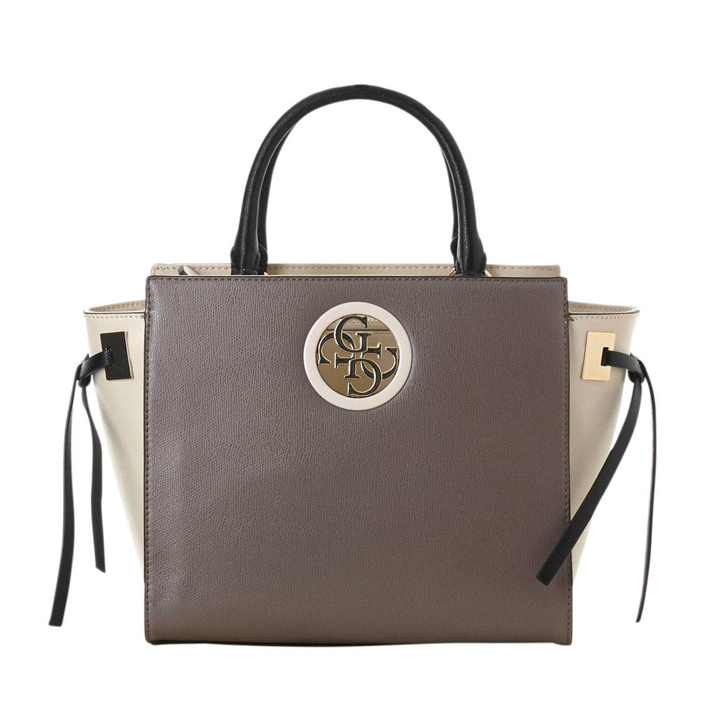 GUESS   handtas Open Road tape, Taupe/ecru