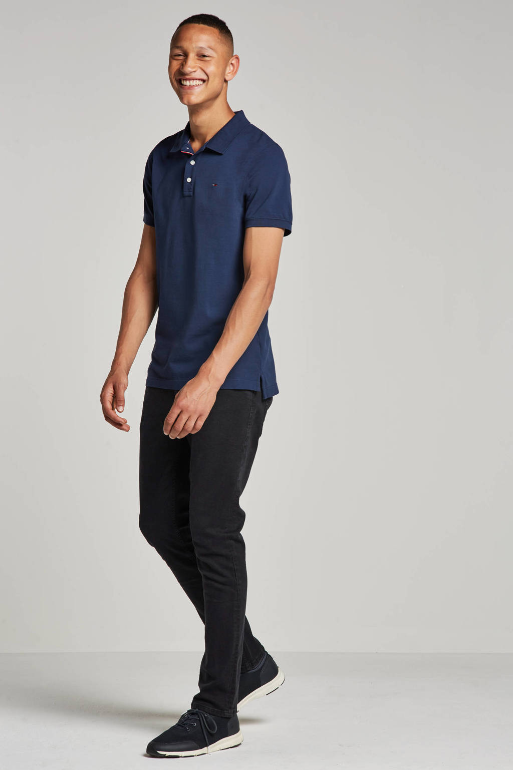 Tommy Jeans slim fit polo, Blauw