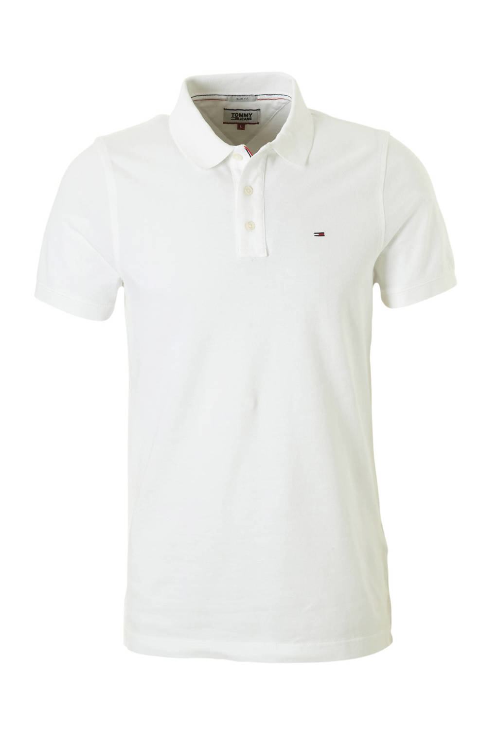Tommy Jeans slim fit polo, Wit