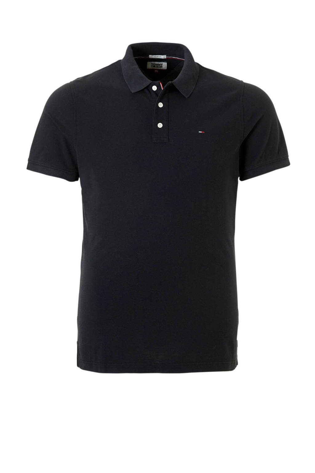 Tommy Jeans slim fit polo, Zwart