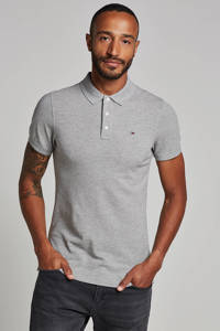 Tommy Jeans slim fit polo, Grijs