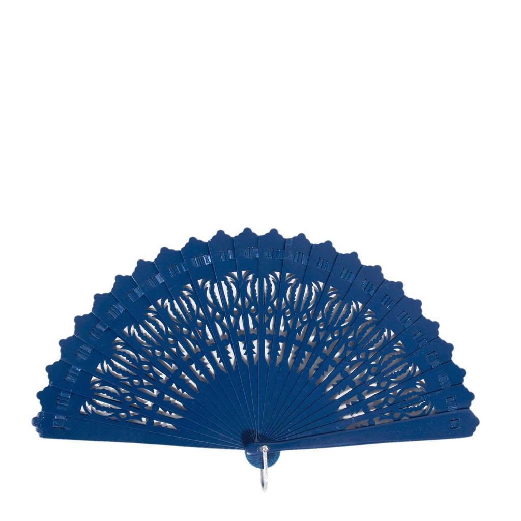 Parfois houten waaier blauw, Blauw