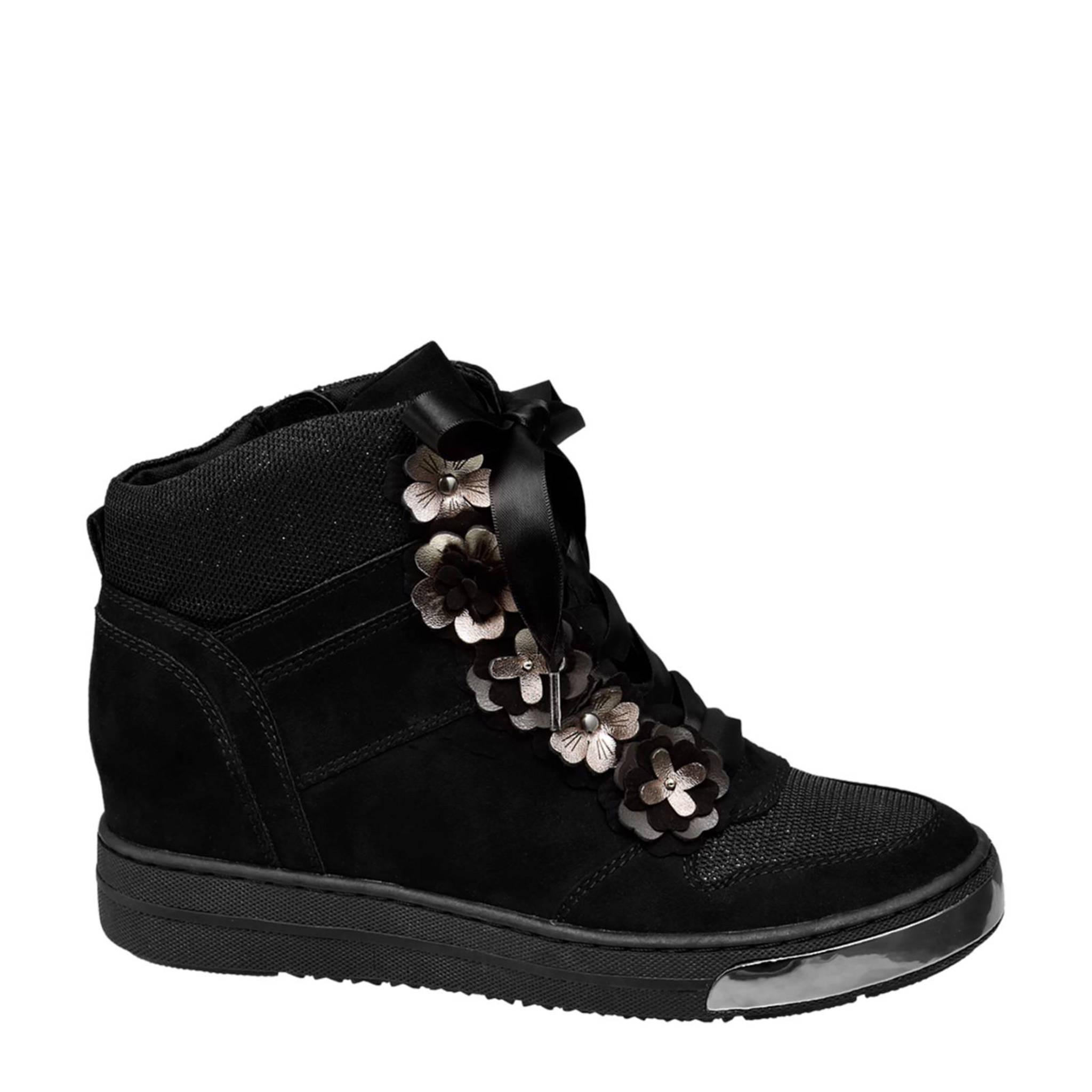 92acb35494a Venice vanHaren Venice sneakers met inwendige sleehak zwart | wehkamp