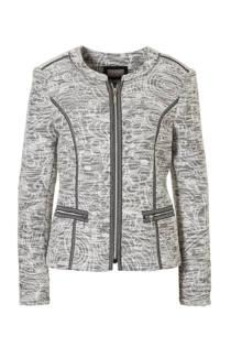 C&A Canda jasje met contrastbies wit/zwart (dames)