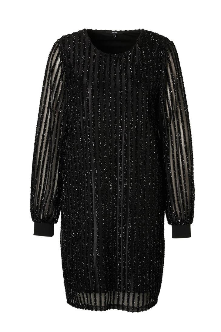 MODA jurk mesh met VERO glitterdetail fw4x40