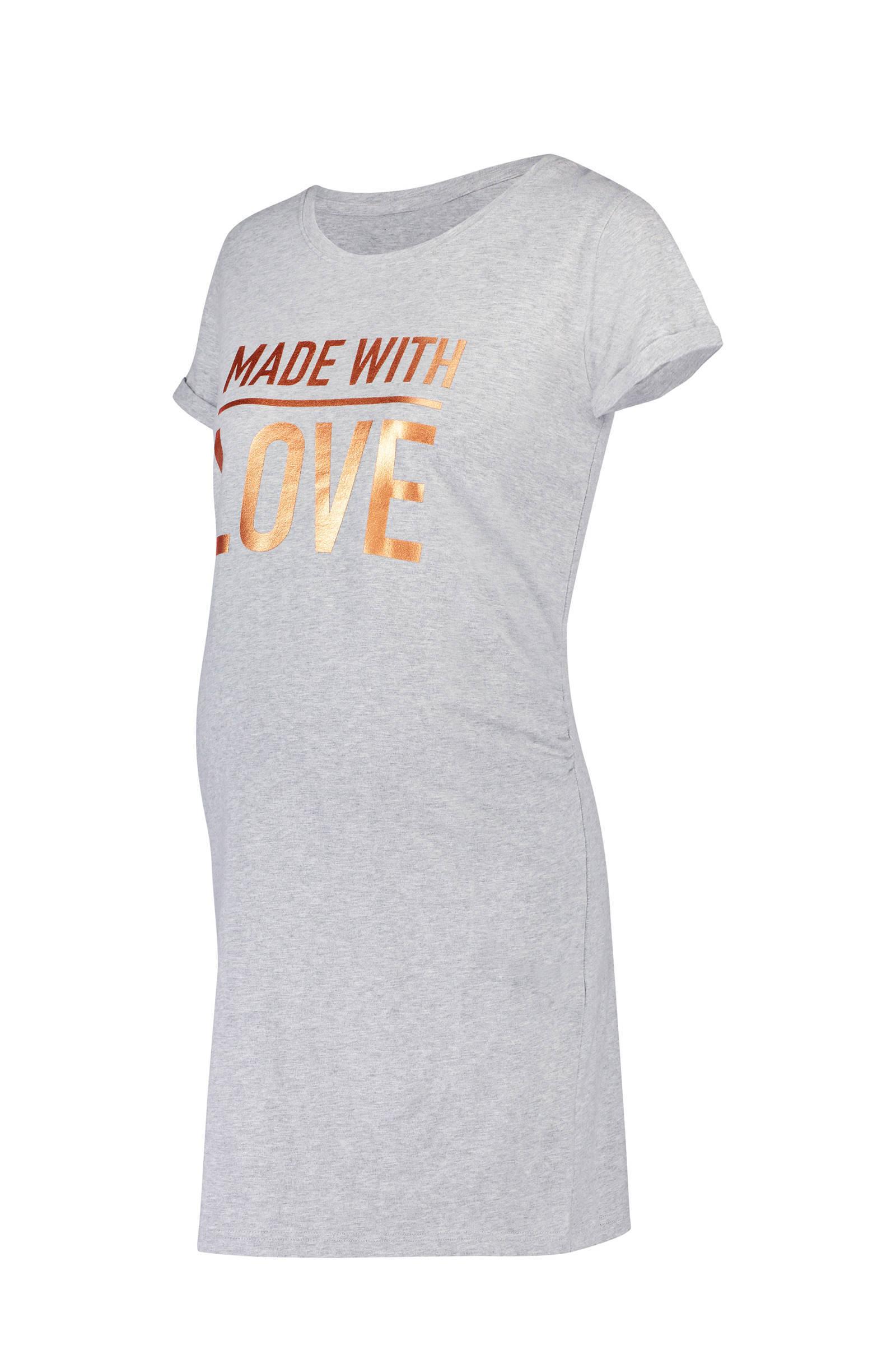 Hunkemöller zwangerschaps nachthemd grijs (dames)