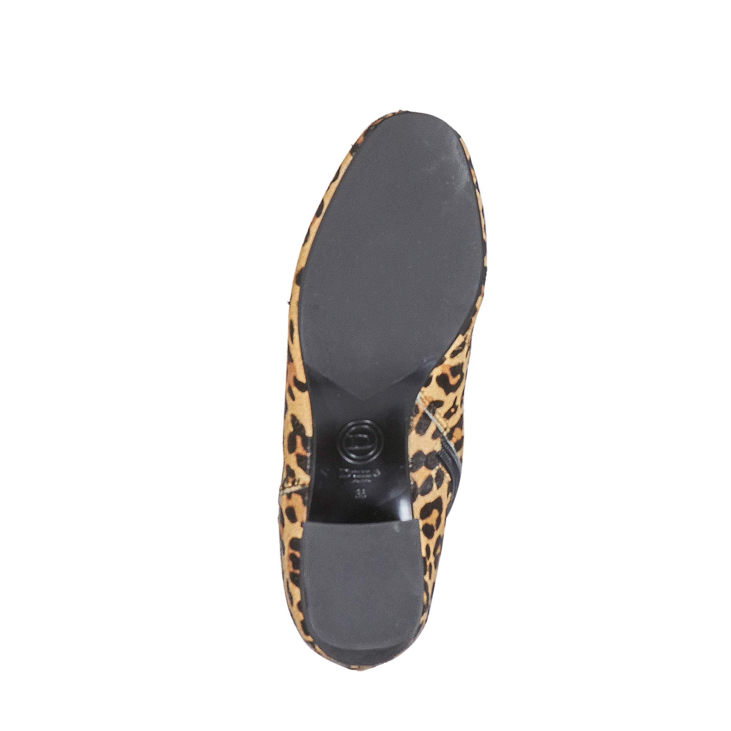 16c457e76b6 Dune London leren enkellaarzen met luipaardprint | wehkamp