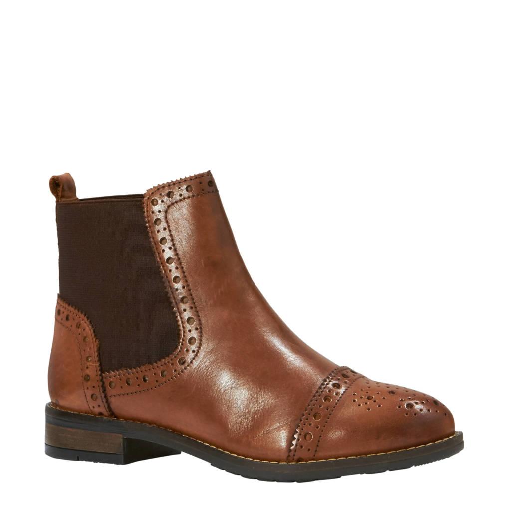 Dune London leren chelsea boots bruin, Bruin