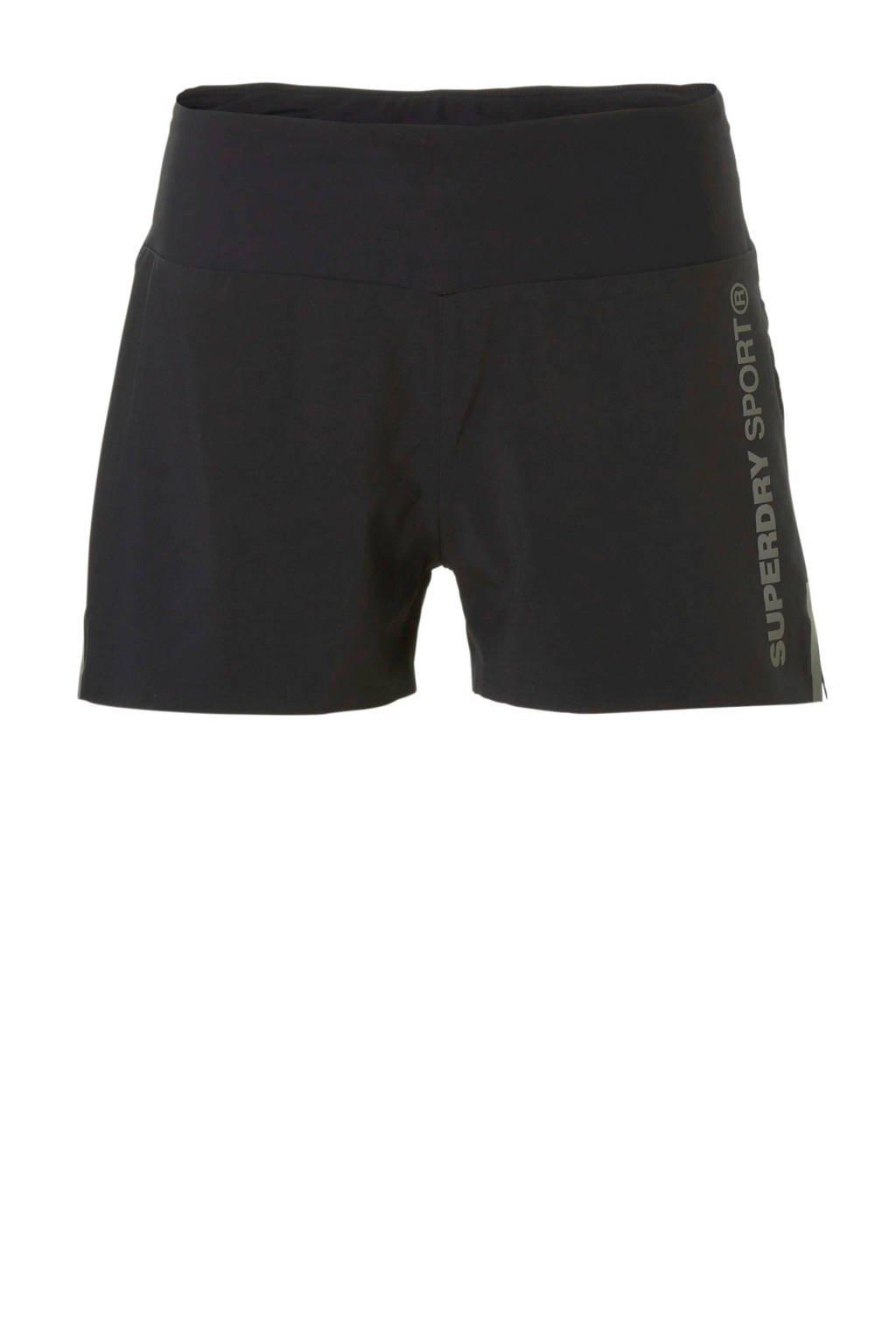 Superdry Sport sportshort zwart, Zwart