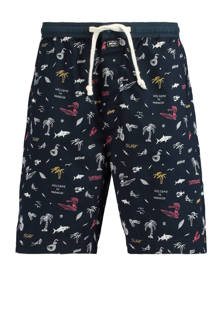 pyjamashort Lake met allover print
