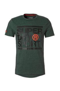 Superdry Sport   sport T-shirt donkergroen (heren)