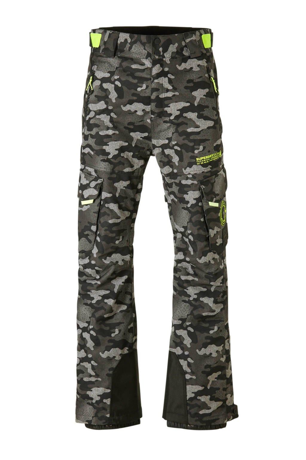 Superdry Sport skibroek grijs, grijs/zwart camouflage