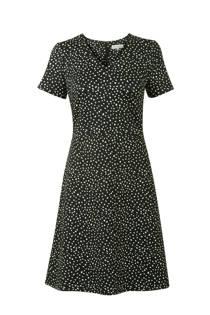 Promiss jurk met stippen zwart