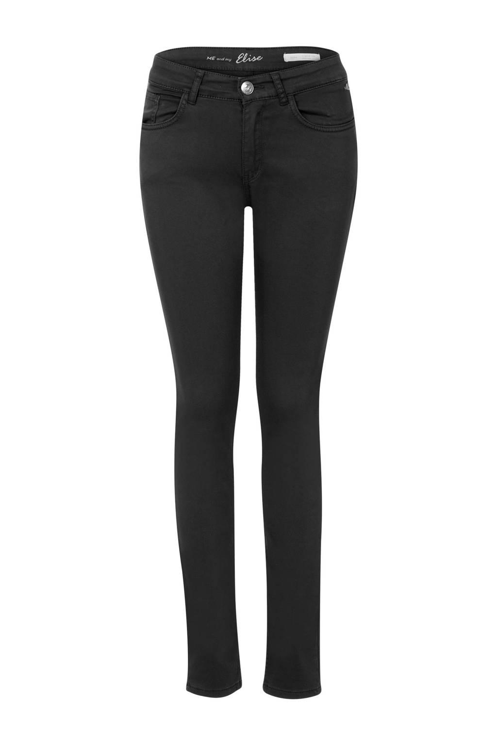 Miss Etam Lang slim fit jeans Elise 36 inch zwart, Zwart