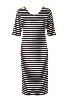 Lang gestreepte jurk