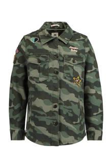 blouse met camouflage print