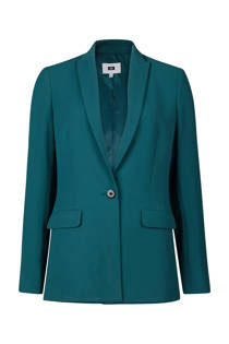 WE Fashion slim fit blazer petrol (dames)