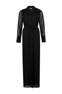 WE Fashion maxi jurk met stippen zwart