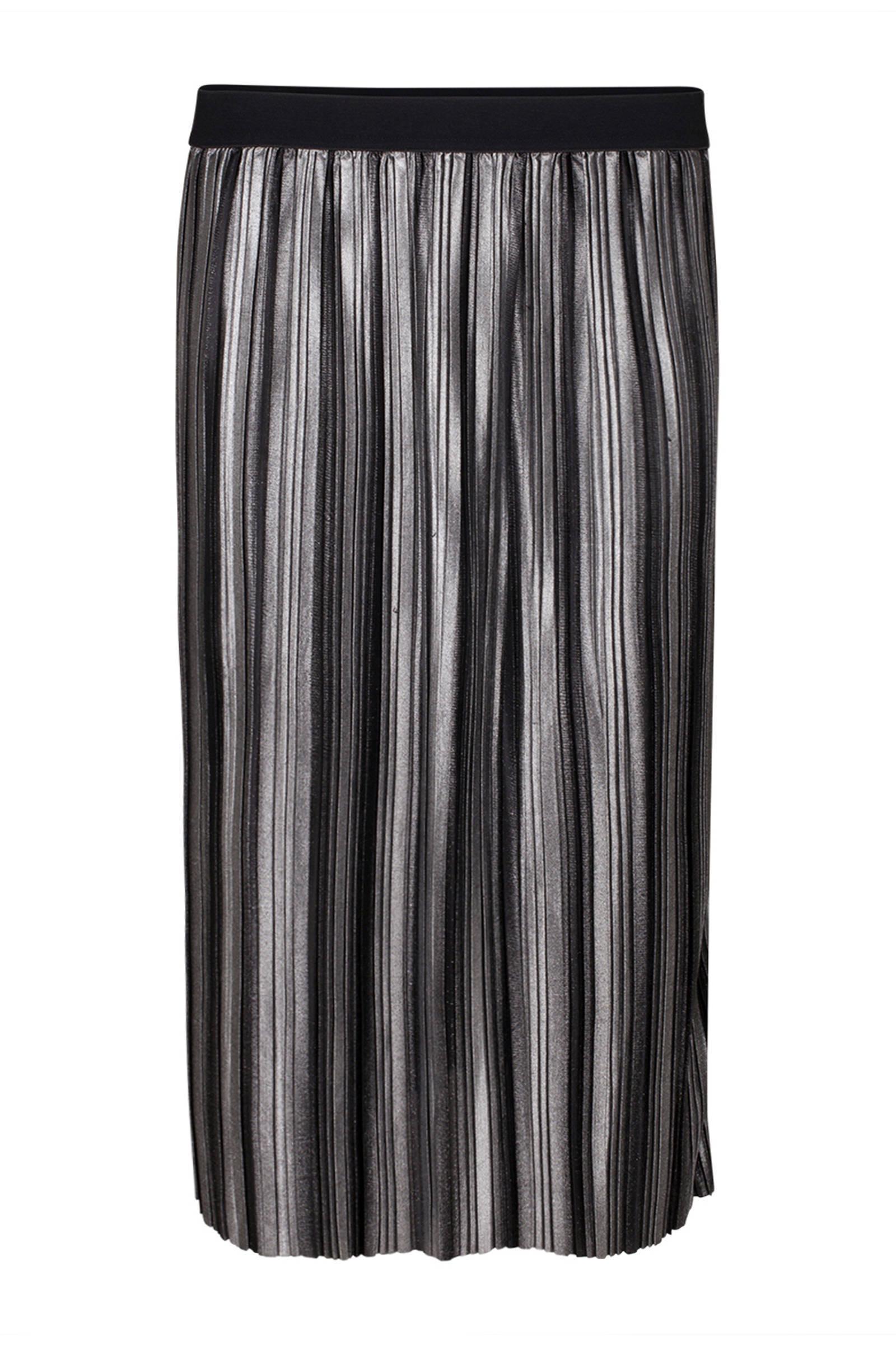 WE Fashion metallic plissérok zilver (dames)