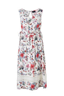 C&A Yessica gebloemde jurk met kant ecru (dames)