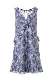 C&A Yessica gebloemde kanten jurk blauw (dames)