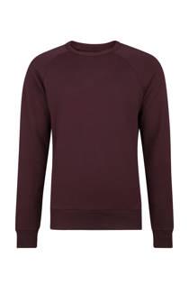 WE Fashion  slim fit sweater aubergine (heren)