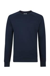 WE Fashion  slim fit sweater donkerblauw (heren)