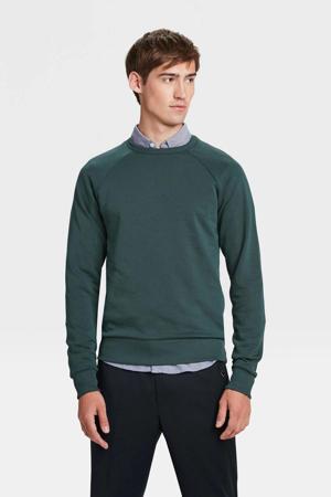 slim fit sweater donkergroen
