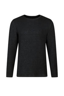 WE Fashion slim fit trui met wol donkerblauw (heren)
